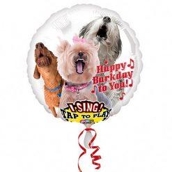 Muzikale Folieballon Honden 71cm