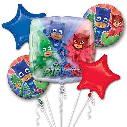 Folieballon Set 5 stuks PJ Masks