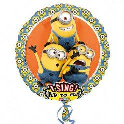 Muzikale Folieballon Minions 71cm