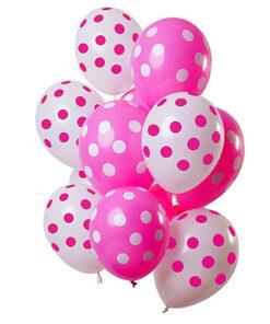Ballonnen - Lier - feestversiering - latex ballon - Fun-Shop - helium - verjaardag - geboorte - dots - meisje - girl - babyborrel