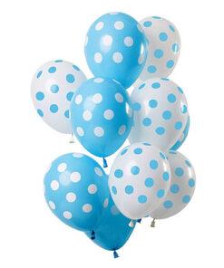 Ballonnen - Lier - feestversiering - latex ballon - Fun-Shop - helium - verjaardag - geboorte - dots - jongen - boy - babyborrel