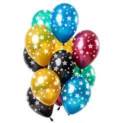 Ballonnen Sterren Metallic - 12 stuks