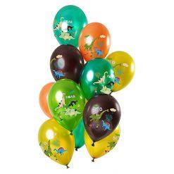 Ballonnen Dino's Metallic - 12 stuks