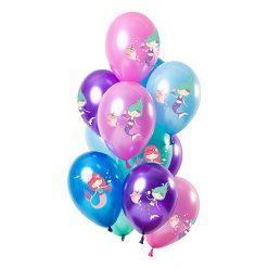 Ballonnen Zeemeermin Metallic - 12 stuks