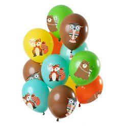 Ballonnen Bosdieren - 12 stuks