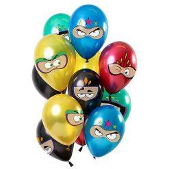 Ballonnen Superhelden Metallic - 12 stuks