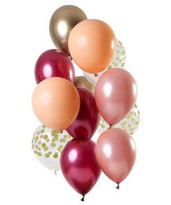 Ballonnen - Lier - feestversiering - latex ballon - Fun-Shop - helium - verjaardag - roségoud - oud roze - transparante ballon