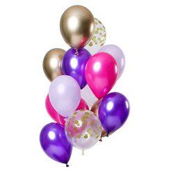 Ballonnen Purple Posh - 12 stuks