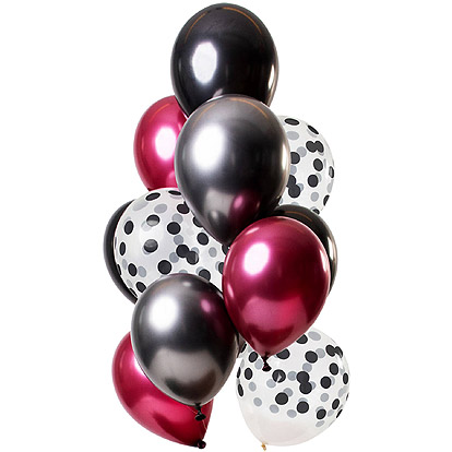 Ballonnen Dark Richness - 12 stuks
