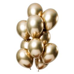 Ballonnen Mirror Effect Goud - 12 stuks