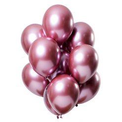 Ballonnen Mirror Effect Roze - 12 stuks
