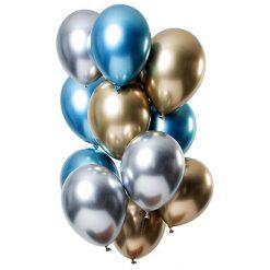 Ballonnen Mirror Effect Sapphire - 12 stuks