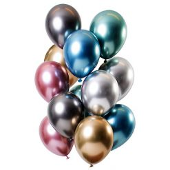 Ballonnen Mirror Effect Treasures - 12 stuks