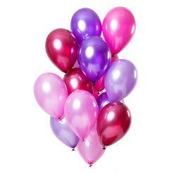 Ballonnen Merry Berry Pink Metallic - 15 stuks