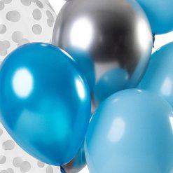Ballonnen - Lier - feestversiering - Fun-Shop - helium - vieren - feesten - party - blauwe ballon - zilveren ballon