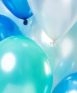 Ballonnen - Lier - feestversiering - helium - verjaardag - feest - party - blauwe ballon - witte ballon - groene ballon