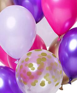Ballonnen - Lier - feestversiering - Fun-Shop - helium - verjaardag - prinses - feest - roze ballon - transparante ballon