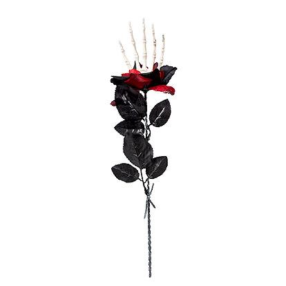 Bloem Rode Roos Skelet Hand