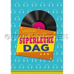 "Verjaardagskaart ""Superleuke Dag"" - Muziek & Licht"