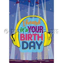 """Verjaardagskaart """"Whoop Whoop"""" - Muziek"""