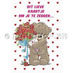 """Liefdeskaart """"Hou van je"""" - Geluid & Licht"""