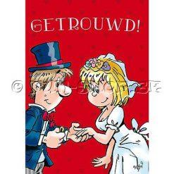 """Huwelijkskaart """"Getrouwd"""" - Geluid & Licht"""