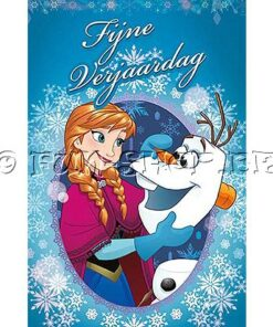 Lier - wenskaart - kaartje - kaartje sturen - cards - Disney - jarig - anna - elsa - olaf - glitter kaart - verjaardag