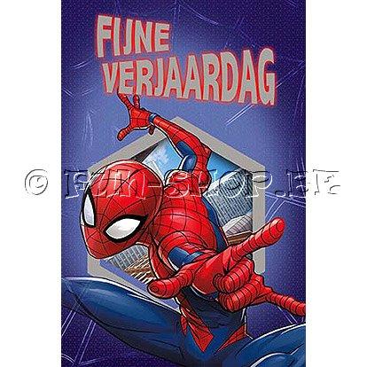 Spiderman Verjaardagskaart