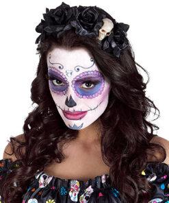 Halloween accessoires - Lier - haaraccessoire - roos - bloem - sluier - bruid - married - huwelijk - horror - schedels