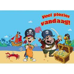 Lier - wenskaart - kaartje - kaartje sturen - cards - jarig verjaardagskaart - muziekkaart - licht - piraten - piratenboot