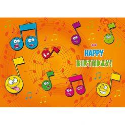 Lier - wenskaart - kaartje - kaartje sturen - cards - verjaardagskaart - muziekkaart - licht - muzieknoten - emoji