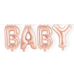 Folieballon Letters 'Baby' Oud Roze