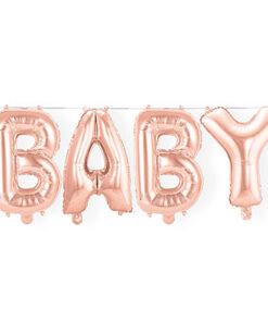 Ballonnen - Lier - feestversiering - Fun-Shop - folie ballon - letter ballon - girl - it's a girl - baby - roze - roségoud