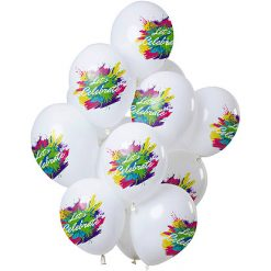 Ballonnen 'Let's Celebrate' Color Splash - 12 stuks