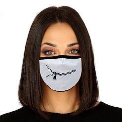Lier - Carnaval - Halloween - mondmasker - rits - zipper - herbruikbaar - print - bescherming - mondkapje
