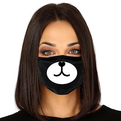 Lier - Carnaval - Halloween - mondmasker - beer - knuffelbeer - hond - herbruikbaar - print - bescherming - mondkapje