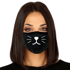 Lier - Carnaval - Halloween - mondmasker - Poes - Kat - leeuw - herbruikbaar - print - bescherming - mondkapje