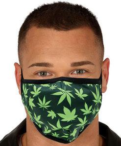 Lier - Carnaval - Halloween - mondmasker - wietblad - herbruikbaar - print - bescherming - mondkapje