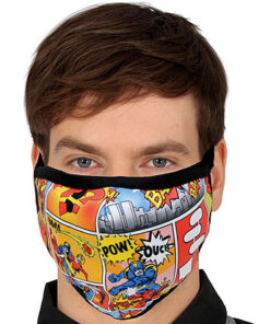 Lier - Carnaval - Halloween - mondmasker - stripfiguur - herbruikbaar - print - bescherming - mondkapje
