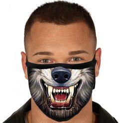 Lier - Carnaval - Halloween - mondmasker - wolf - weerwolf - herbruikbaar - print - bescherming - mondkapje