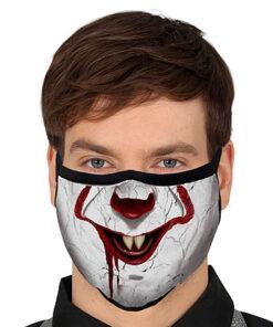 Lier - Carnaval - Halloween - mondmasker - clown - enge clown - herbruikbaar - print - bescherming - mondkapje