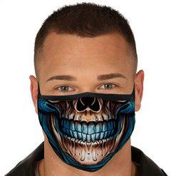 Lier - Carnaval - Halloween - mondmasker - geraamte - glimlach - herbruikbaar - print - bescherming - mondkapje