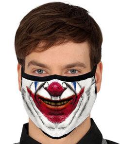 Lier - Carnaval - Halloween - mondmasker - clown - glimlach - herbruikbaar - print - bescherming - mondkapje