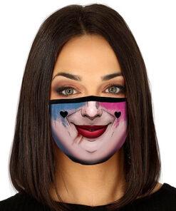 Lier - Carnaval - Halloween - mondmasker - Harley Quinn - herbruikbaar - print - bescherming - mondkapje