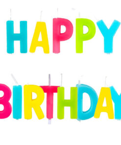 Verjaardagskaars - Jarig - feest - kleurrijk - taarttopper - caketopper - feestversiering - decoratie - Lier - verjaardag
