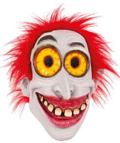 Lier - Carnaval - Halloween - clown - freak - funny face - grappig gezicht - gek masker - rode haren - circus
