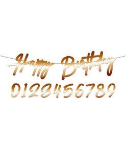 Lier - Verjaardagsslinger - Jarig - feestversiering - decoratie - leeftijd - happy birthday - huwelijksverjaardag - jubileum