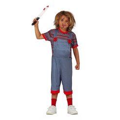 Halloween kostuum - Lier - verkleedkostuums - verkleedkledij kinderen - griezelen - voodoo - pop - film figuur - child's play