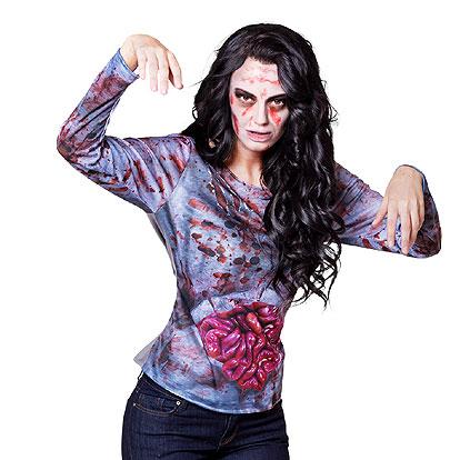 Halloween kostuum - Lier - verkleedkostuums - verkleedkledij volwassenen - griezelen - geest - horror - ingewanden - ziek