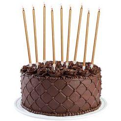 Verjaardagskaars - Jarig - feest - goud - taarttopper - caketopper - feestversiering - decoratie - huwelijk - jubileum